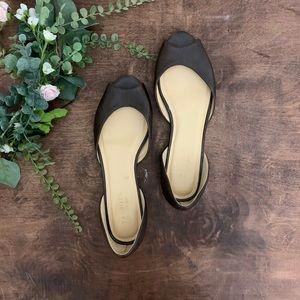 Talbots D'Orsay Peep Toe Flats   Size 10B
